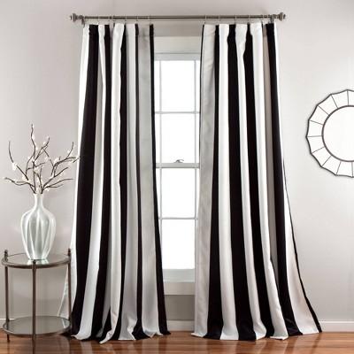 Set of 2 Wilbur Room Darkening Window Curtain Panels - Lush Décor