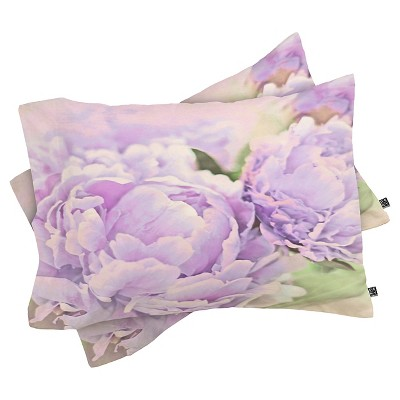 Lisa Argyropoulos Lavender Peonies Lightweight Pillowcase Standard Purple - Deny Designs