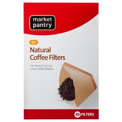 Natural Cone #4 Coffee Filters - 40ct - Market Pantry™