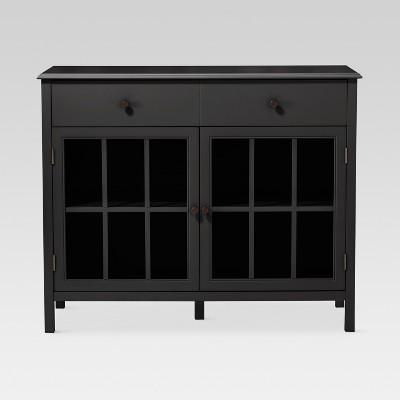 Windham 2 Door Accent Buffet, Cabinet with Shelves - Black - Threshold™