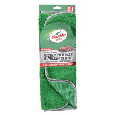 """6""""x17"""" Microfiber Wax & Polish Cloth Green - Turtle Wax"""
