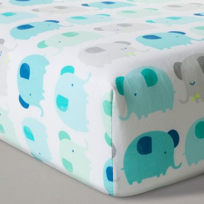 Fitted Crib Sheet Elephant Parade - Cloud Island™ Blue