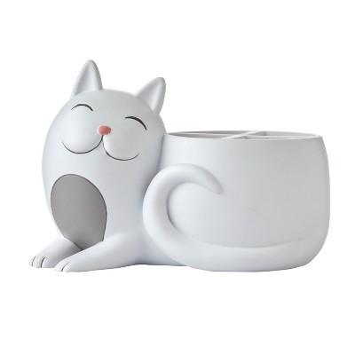 Pet Play Cat Toothbrush Holder Gray - SKL Home