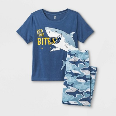 Boys' 2pc Shark Pajama Set - Just One You® made by carter's Blue