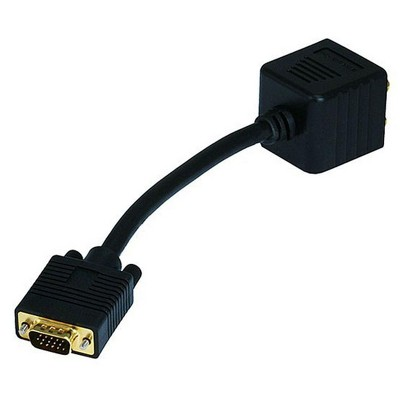 Monoprice Video Splitter - VGA(HD15) M to VGA(HD15) F X 2 (1 PC to 2 Monitors) for High Resolution