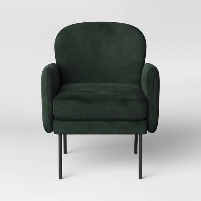 Welton Armchair Velvet Forest Green - Project 62™