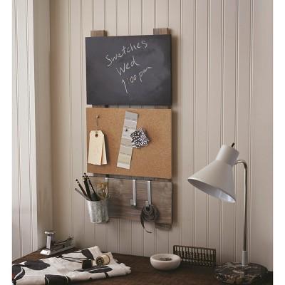 Beau Bulletin Board With Chalkboard And Hooks   Threshold™ : Target