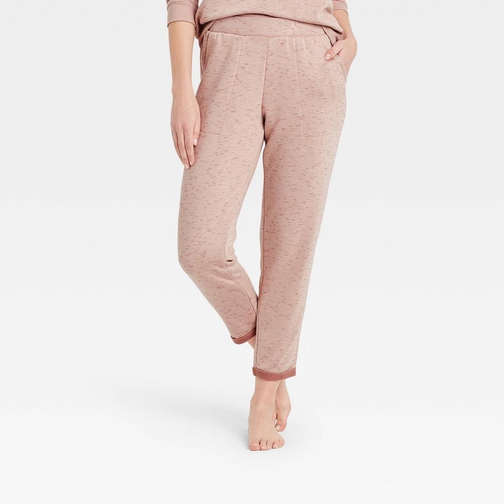 Women 39 S Two Toned Fleece Lounge Pants Stars Above 8482 Mauve Xs