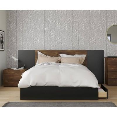 4pc Queen Bogota Bedroom Set Black - Nexera