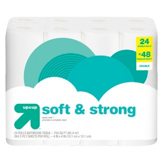 Soft & Strong Toilet Paper - 24 Double Rolls - Up&Up™
