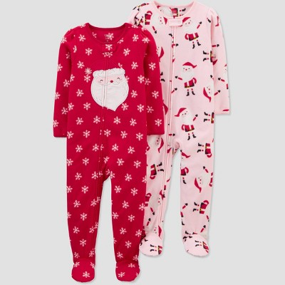 Baby Girls' Christmas Dots Footed Pajama - Just One You® made by carter's Red 9M