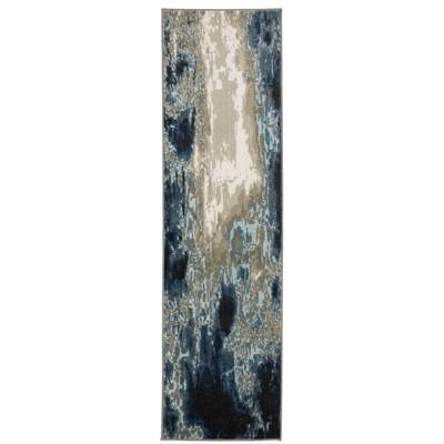 Victor Contemporary Abstract Area Rug Blue/Gray - Captiv8e Designs