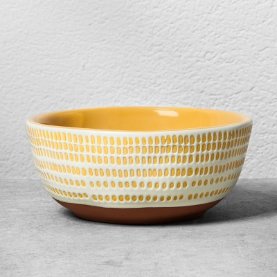 Stoneware Radial Dessert Bowl - Golden Yellow - Hearth & Hand™ with Magnolia
