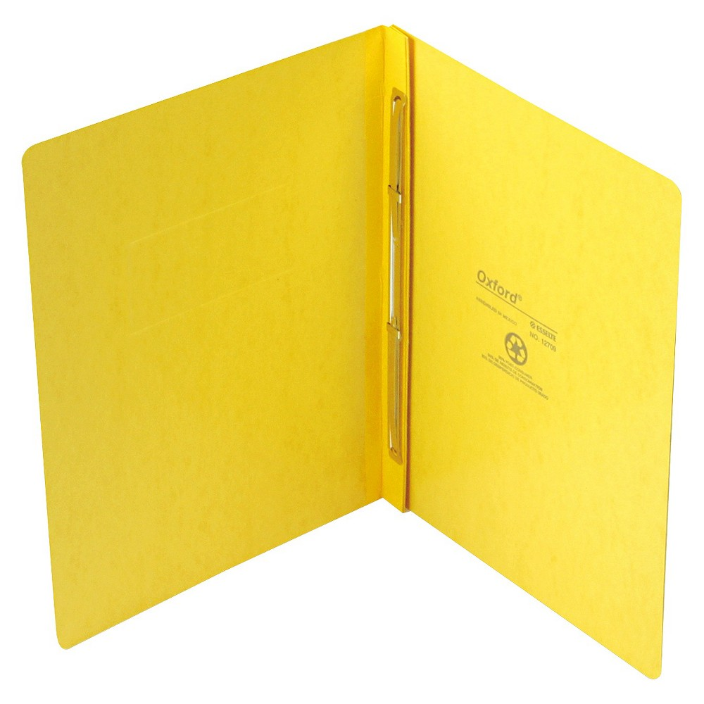 Oxford PressGuard Report Cover, Prong Clip, Letter, 3 Capacity, Yellow