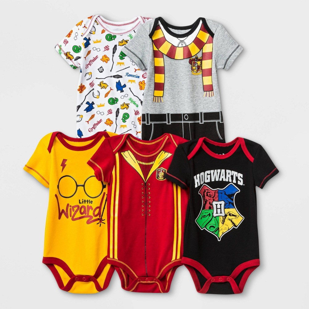 Baby Warner Bros Harry Potter 5pk Bodysuits 18m