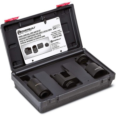 Powerbuilt 641321 Universal Heavy Duty Honda Lower Ball Joint Tool Adapter Kit with Durable Carrying Case