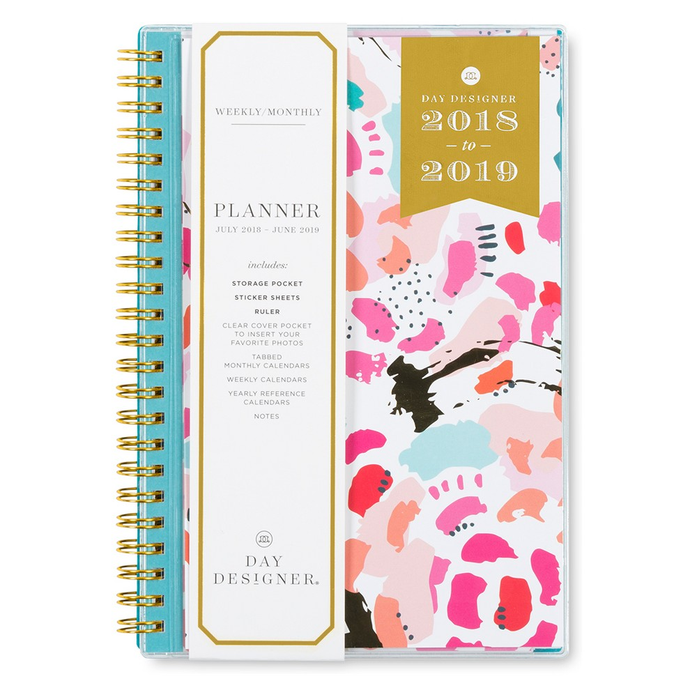 2018-19 Academic Planner 8x 5 Pink Floral - Blue Sky, Multi-Colored