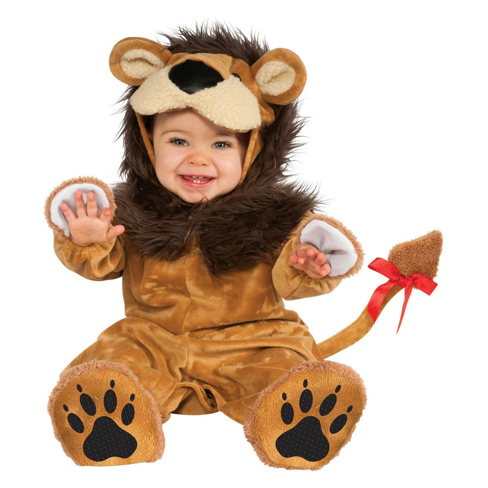 Baby Lil Lion Halloween Costume 6-12M, Infant Unisex, Multicolored