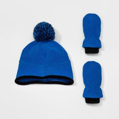 Baby Boys' Igloos® Handwear And Headwear Sets- Blue