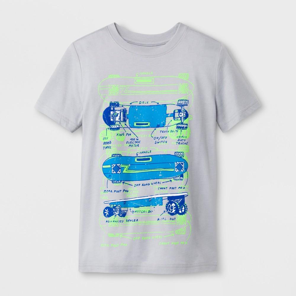 Boys' Short Sleeve T-Shirt - Cat & Jack Gray M