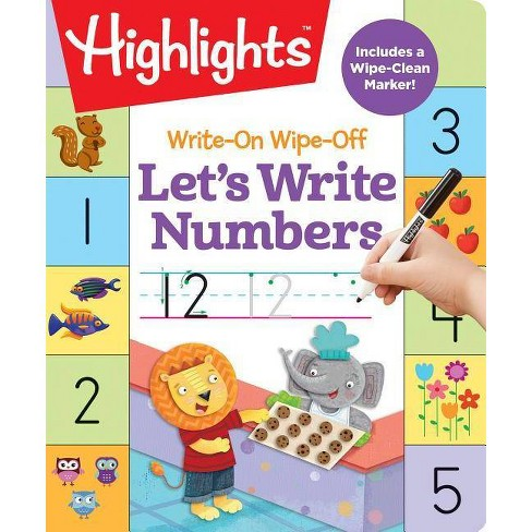 Write-On Wipe-Off Let's Write Numbers - (Highlights(tm) Write-On Wipe-Off Fun to Learn Activity Books) - image 1 of 1