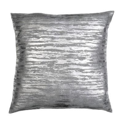 """22""""x22"""" Oversize Jessa Streak Metallic Print Square Throw Pillow - Décor Therapy"""
