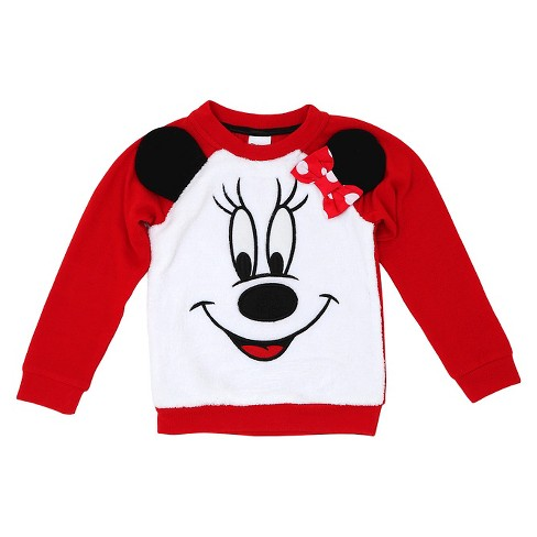 Toddler Girls' Minnie Mouse Sweatshirt Disney® - Red - image 1 of 2