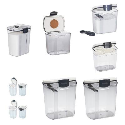 Progressive Flour Container (2 pack) & Brown Sugar Container & Powdered Sugar Container & 1.5c Container & Spice Container (2 Pack) & Sugar Container