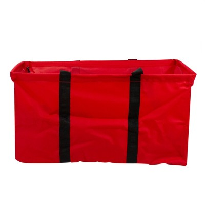 """Northlight 22"""" Red Collapsible Multi-Purpose Christmas Storage Bag with Carrying Handles"""