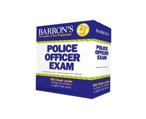 Barron's Police Officer Exam Flash Cards (Paperback) (Ph.D. Donald Schroeder & Frank Lombardo) - image 1 of 1