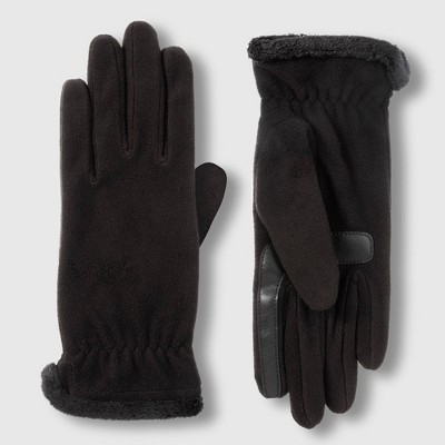 Isotoner Women's smartDRI Recycled Fleece Gloves - Black One Size