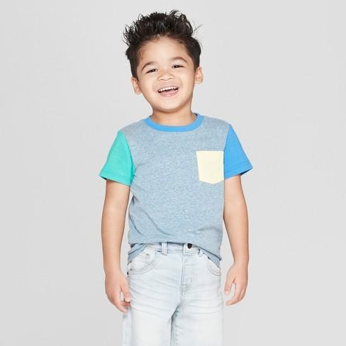 21fd3dd9a1f Toddler Boys  Short Sleeve Colorblock T-Shirt - Cat   Jack™ Blue ...