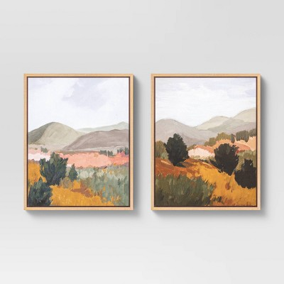 "(Set of 2) 16"" x 20"" Back Country I & II Framed Canvas - Threshold™"