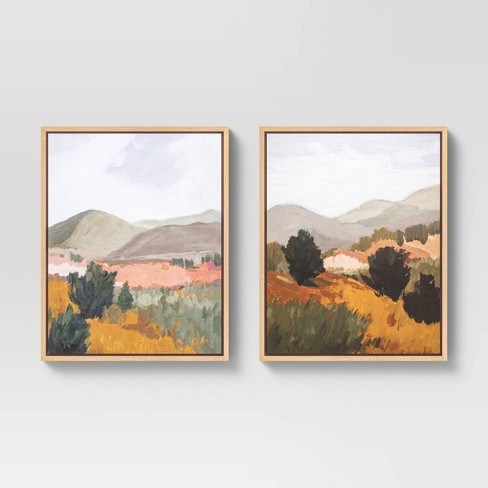 """(Set of 2) 16"""" x 20"""" Back Country I & II Framed Canvas - Threshold™ - image 1 of 4"""
