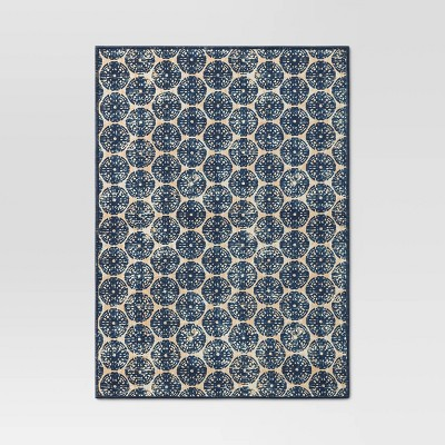 Cotton Medallion Print Placemat Blue - Threshold™