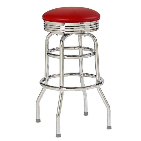 Double-Ring Bar Stool with Chrome - image 1 of 2