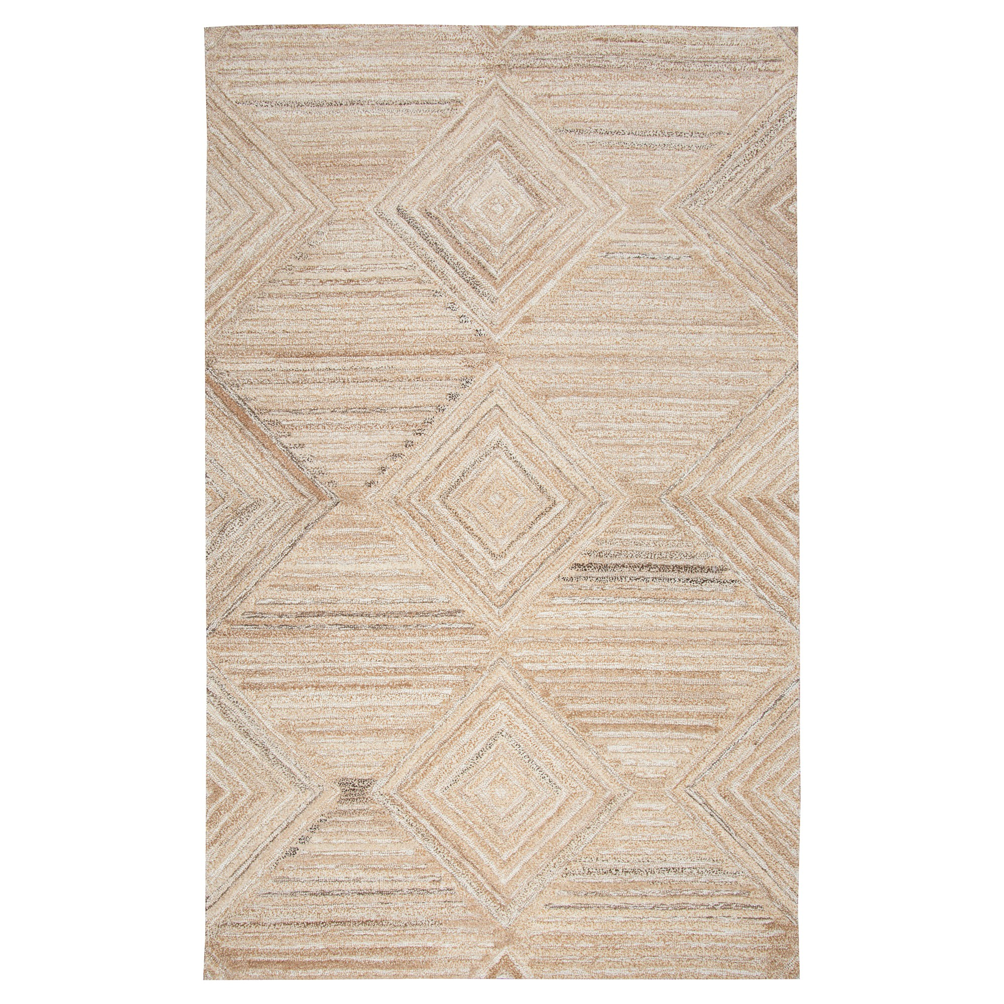 Geometric/Solid Rug - Tan - (5'X8') - Rizzy Home