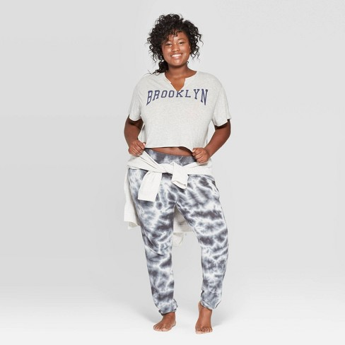 Women's Plus Size Brooklyn Lounge Sleep T-Shirt - Colsie™ Gray - image 1 of 3