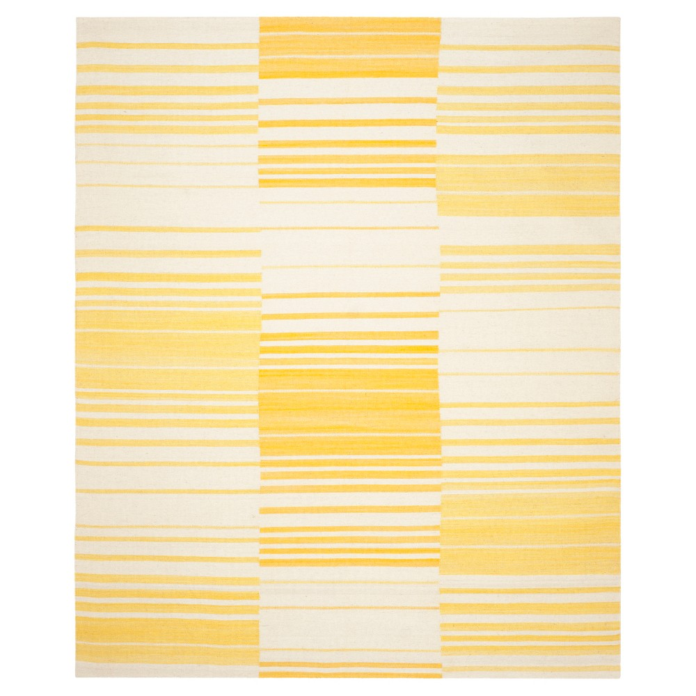 Trevian Area Rug - Gold / Ivory (9' X 12') - Safavieh, Gold/Ivory