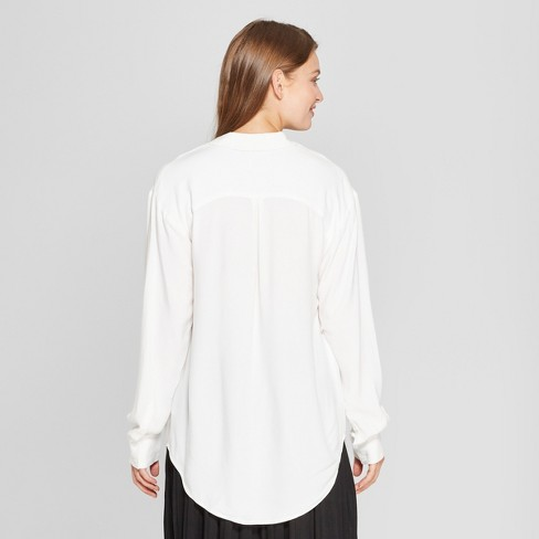 bb0315240b29 Women's Any Day Long Sleeve Tunic - A New Day™ White : Target