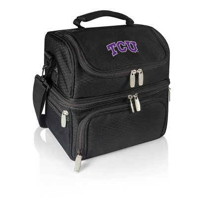 NCAA TCU Horned Frogs Pranzo Dual Compartment Lunch Bag - Black