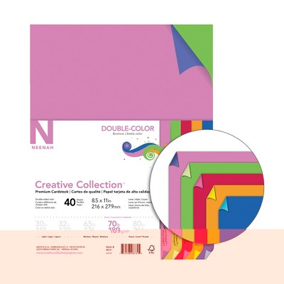 Creative Collection Cardstock, 8-1/2 x 11 Inches, Double-Color, 40 Sheets