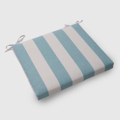 Cabana Stripe Outdoor Seat Cushion Turquoise - Threshold™