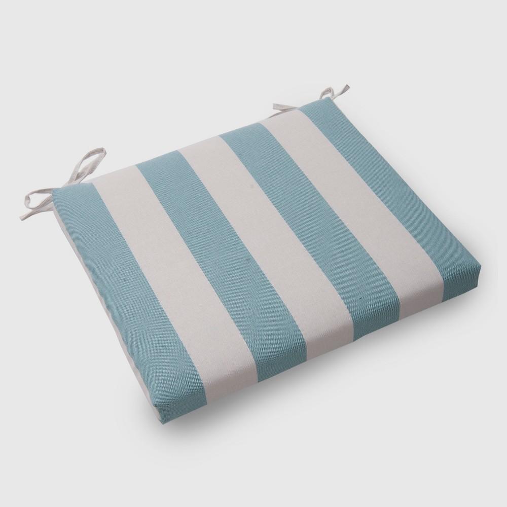 Cabana Stripe Outdoor Seat Cushion Turquoise - Threshold