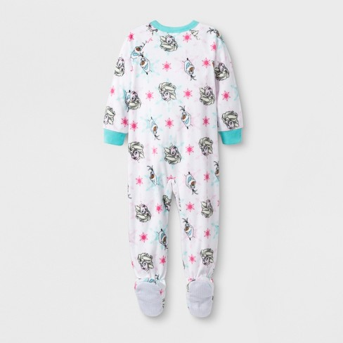 543a2bc7a0 Toddler Girls  Frozen Blanket Sleeper - White 4T   Target