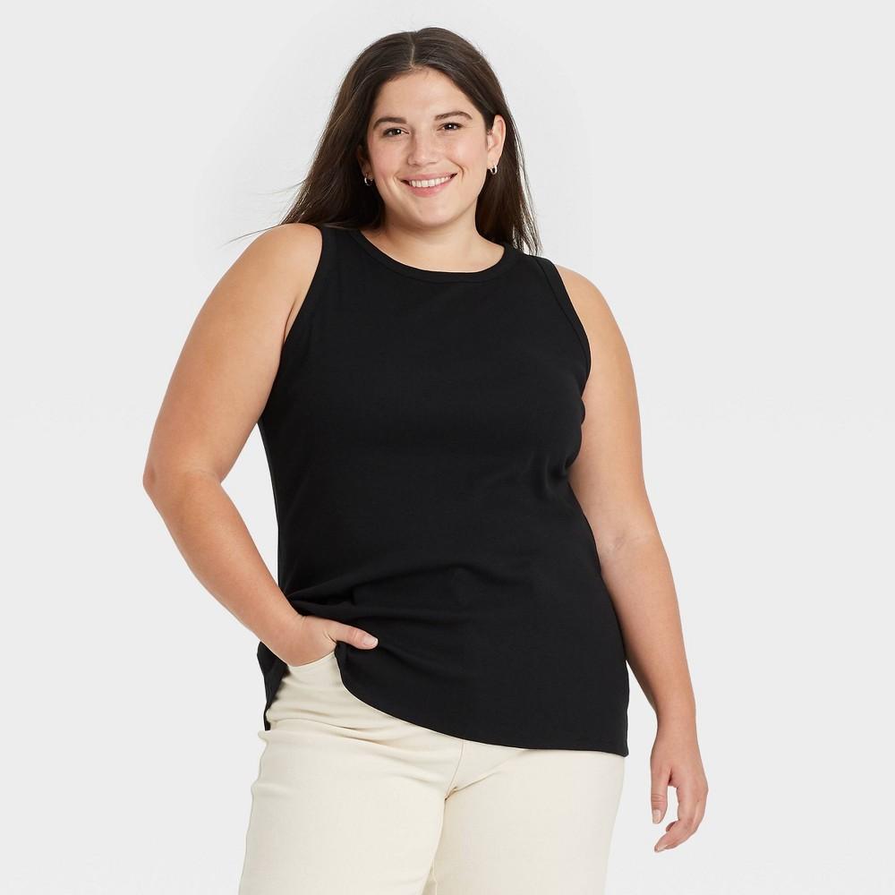Women 39 S Plus Size Tank Top Ava 38 Viv 8482 Black X