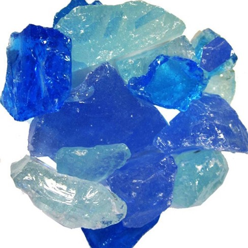 Recycled Fire Pit Fire Glass - Beach Glass Blue - AZ Patio Heaters - image 1 of 3