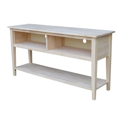 """Concepts TV Stand for TVs up to 66"""" Unfinished - International Concepts"""