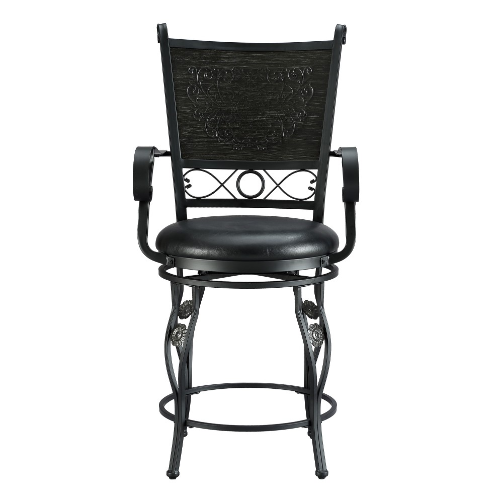 "Image of ""24"""" Ellie Big & Tall Counter Stool Black - Powell Company"""