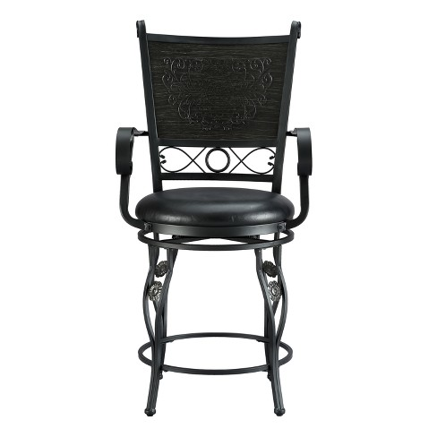 """24"""" Ellie Big & Tall Counter Stool Black - Powell Company - image 1 of 3"""